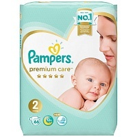Подгузники Pampers Premium Care Mini 2, 4-8 кг, 66 шт.