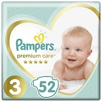 Подгузники Pampers Premium Care Midi 3, 6-10 кг, 52 шт.