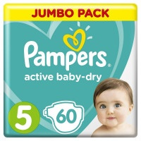 Подгузники Pampers Active Baby-Dry 5, 11-16 кг, 60 шт.