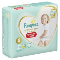 Трусики Pampers Premium Care Pants Extra Large 6, 15+кг, 31 шт.