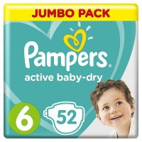 Подгузники Pampers Active Baby-Dry 6, 13-18 кг 52 шт.