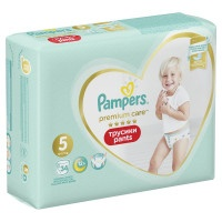 Трусики Pampers Premium Care Pants Junior 5, 12-17 кг, 34 шт.