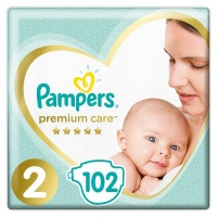 Подгузники Pampers Premium Care 2, 4-8 кг, 102 шт.
