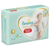 Трусики Pampers Premium Care Pants Maxi 4, 9-15 кг, 38 шт.