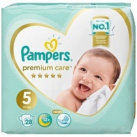 Подгузники Pampers Premium Care Junior 5, 11-16 кг, 28 шт.