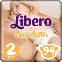 Подгузники Libero Newborn Mini 2, 3-6 кг, 94 шт.