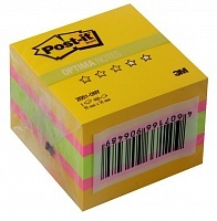 Стикеры Post-it Optima лето 5,1*5,1см, 400 листов