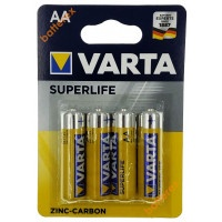 Батарейки Varta солевые SuperLife АА 4шт