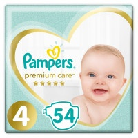 Подгузники Pampers Premium Care 4, 9-14 кг, 54 шт.