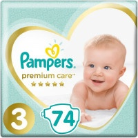 Подгузники Pampers Premium Care 3, 6-10 кг, 74 шт.