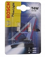 Лампа Bosch Pure Light T4W, 4W, 2шт