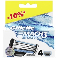 Кассеты Gillette Mach3 Start для бритвы, 4 шт