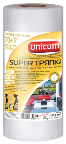 Тряпка Magic Unicum в рулоне 70л
