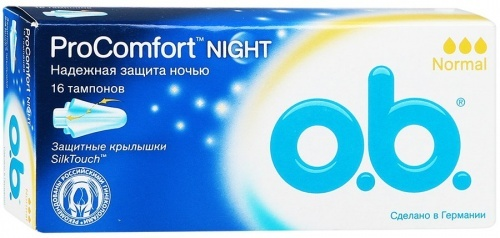 Тампоны O.B. procomfort night normal, 16шт
